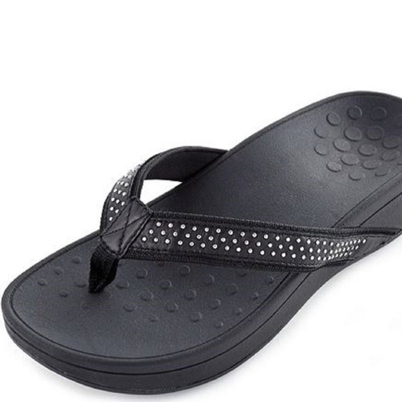 478965cf298 Vionic Wedge Sandals   Flip Flops in Black